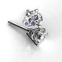 Round Cut 0.50 Ct Diamond Earrings Stud eBay 14K White Gold Earring Stud