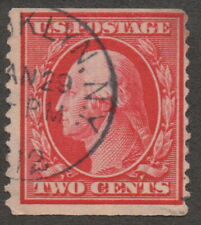 1910 US, 2c stamp, Used, George Washington, Sc 388, Cv 2250$