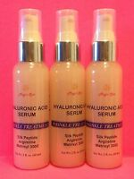 3*2oz HYALURONIC ACID SERUM Face Eyes Silk Peptide Matrixyl Argireline Anti-Age