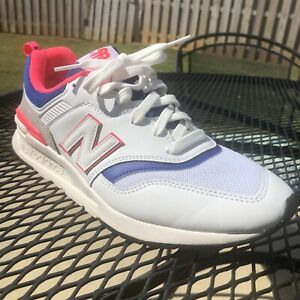 New Balance 997H Mens Running Shoes Size 8.5D White Blue Pink Casual CM997HAJ