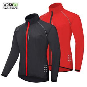 Men Cycling Jersey Jacket Windproof Waterproof Long Sleeve Shirt Bike Clothing