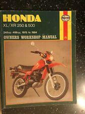 Honda XL250 XR250 XL500 & XR500 HAYNES WORKSHOP MANUAL 1978-1984