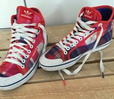 ADIDAS TARTAN HI TOPS Limited Edition Red Blue Retro LACE UPS Pumps Sneakers 6