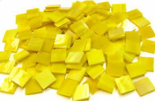 """110 Mosaic Tiles 1/2"""" Sunflower Yellow Stained Glass Beautiful!"""