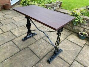 Cast Iron Frame Pub Table