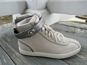Authentic Coach C213 Leather & Suede High Top Sneaker - Chalk - Women's 5