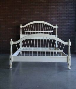 Queen/Full Bed Frame ~  Country French Wheatback Bed by Ethan Allen