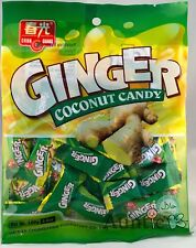 1 BAG Chun Guang Ginger Coconut Hard Candy 5.6 oz ~36 pcs SAVE COMBINED SHIPPING