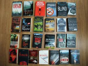 Buchpaket mit 25 Krimis / Thriller