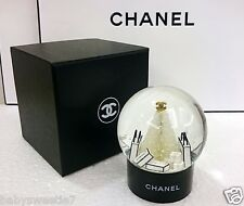 Chanel Logo Crystal Mini Snow Globe Dome Christmas Novelty New Gift Box