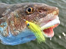 Fly Fishing Flies (Bonefish, Trout, Permit) Crazy Charlie Yellow Chartreuse (x6)