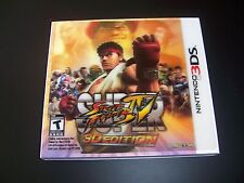 Replacement Case (NO GAME) SUPER STREET FIGHTER IV 4 Nintendo 3DS with 3D Cover