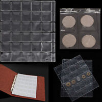 30 Pockets Classic Coin Holders Folder Pages Sheets For Storage Collection Album