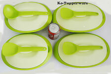 1 set Tupperware Blossom Microwaveable serveware green casual entertaining