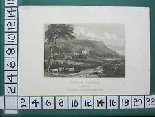 c1830 ANTIQUE YORKSHIRE PRINT ~ WILTON CASTLE ~ THE SEAT OF SIR LOWTHER