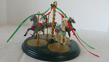 Christmas 1989 Hallmark Carousel Set-- 4 Carousel Horses