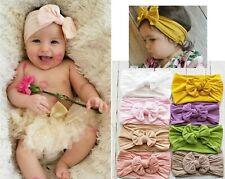Baby Girl Children Ribbon Bow Turban Soft Hair Head band Headband Wrap Bandana