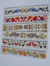 COLOR WRIST TEMPORARY TATTOO LOT 0F 12  CARNIVALS, PARTIES TOYS FAVORS