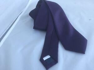 "Dark Aubergine Purple Mens Polyester Tie - Skinny 2.5""= 6cm Width >P&P 2 UK> 1st"