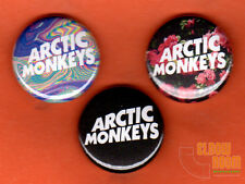 "Set of three 1"" Arctic Monkeys pins buttons band alternative"