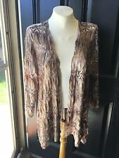 New $119 Chico's Travelers Flame Stitch Jacket Neutral Combo Sz 3 = XL 16 18 NWT