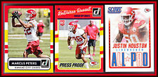 LOT OF 3 DIFFERENT KANSAS CITY CHIEFS RUSSELL PRESS PROOF RC PETERS RC HOUSTON