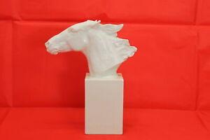 Antike Rosenthal Biskuit Porzellan Skulptur Pferd Hannibal Hussmann Statue #4759