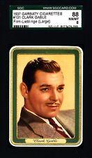 Clark Gable -1937 Garbaty Film Lieblinge Card #131; Passion Cig; SGC 8 (NM-MT)