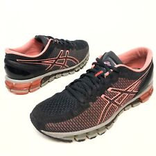ASICS Gel-Quantum 360 Ink/Coral/Grey T6G6N Women's Running Shoes Sz 8.5 Eu40 EUC