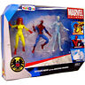 Spider-Man and his Amazing Friends Firestar Iceman Marvel Universe Figures 3 pk