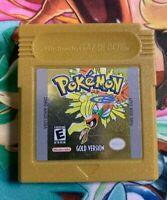 AUTHENTIC Pokemon Gold Version Nintendo GameBoy Color GAME W/ Plastic Case