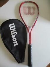 Wilson Squash Racquet with Cover Red & Silver Good used Condt FREE POST