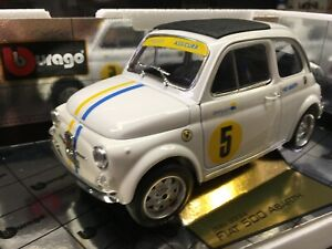 FIAT 500 abarth 1965 gold collection Burago made in Italy 1/16