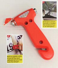 Fantastic 2 in 1 Car Glass Window Breaker Emergency Hammer Seat Belt Cutter New