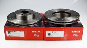 MDC2214 NEW MINTEX FRONT//REAR VENTED DRILLED BRAKE DISCS SET PAIR