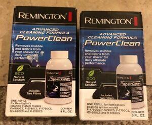 2 Remington Advance Cleaning Formula PowerClean Electric Shaver Solution CCR-REM