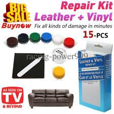 NEW No Heat Liquid Leather & Vinyl Repair Kit Fix Holes Burns Rips Gouges
