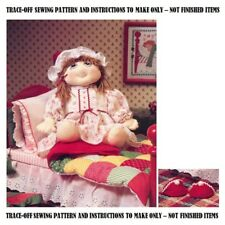 Christmas Doll Trace-off Sewing Pattern, Instrctns tMake Doll Bed, Linens S10120