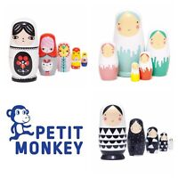 Wooden Nesting (Russian) Dolls - by Petit Monkey