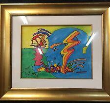 PETER MAX Original Painting (Mystic Sailing)   AMAZING!!!!!