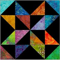 batik spinning star quilt blocks