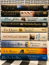 9 Nicholas Sparks Hardback Novels