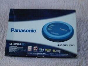 Panasonic SL-SX428 D Sound Portable CD Player MP3 Walkman Discman Blue Japan Box
