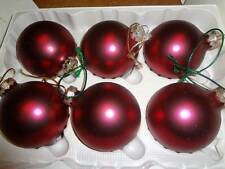 Dark Pink Rauch Christmas Tree Ornaments Balls 18 PCS Victoria Collection