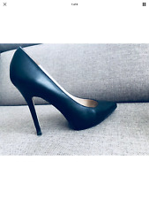 Michael Kors black classic women shoes high heels real leather  size UK 5 EU 38