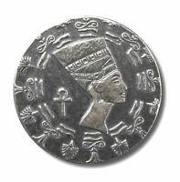 """1/10 Ounce .999 Fine Silver - Egyptian Old World """"Queen Nefertiti"""" Silver Coin"""