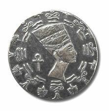 "1/10 Onza .999 Plata Fina - Egipcio Old World ""Reina Nefertiti"" Moneda De Plata"