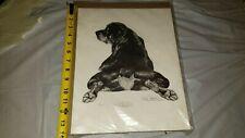 ROTTWEILER Dog Print Signed by Artist