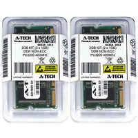 Atech 2GB Kit Lot 2x 1GB DDR Laptop PC3200 3200 400 400mhz 184-pin Memory Ram