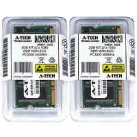 Atech 2GB Kit Lot 2x 1GB DDR Laptop PC3200 3200 400 400mhz 200-pin Memory Ram